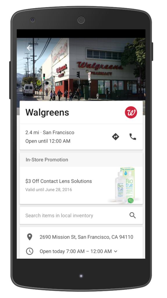Novo anúncio de pesquisa para Google Maps