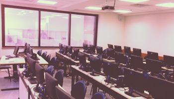 Sala dos cursos na Avenida Paulista