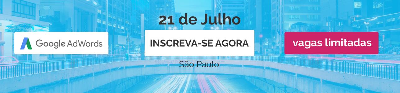 Curso Mestre do Adwords São Paulo Julho