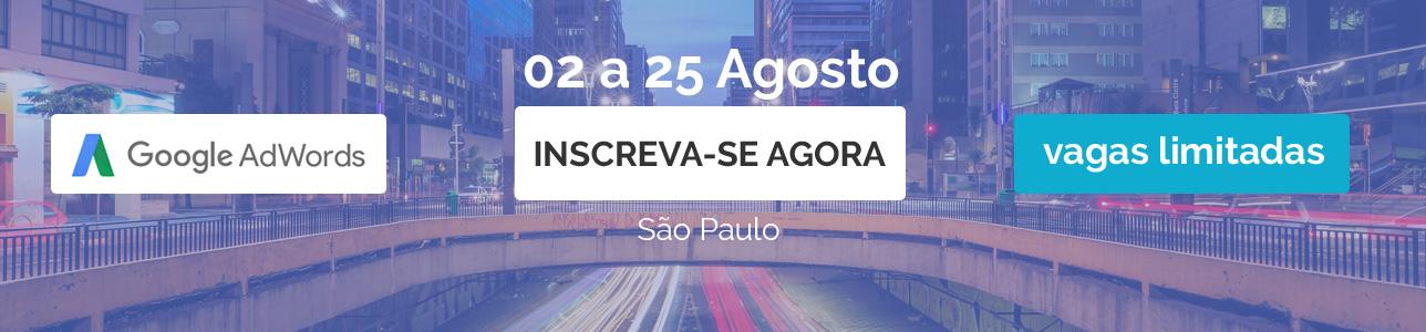 Curso Adwords Noturno em São Paulo